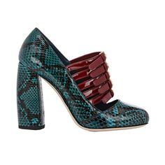 The New Party Shoes to Try Now   Miu Miu Bi-Color Mary Jane Pumps