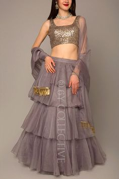 6Y Collective Indian Gowns Dresses, Indian Fashion Dresses, Indian Designer Outfits, Indian Outfits, Designer Dresses, Latest Lehnga Designs, Choli Designs, Lehenga Designs, Mehndi Designs