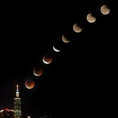 Lunar Eclipse, Taipei 101  #Taiwan