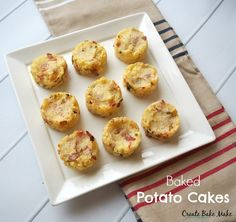 I made these Baked Potato Cakes as a side to an easy Sunday night dinner of defrosted sausages and beans - yep we sure are fancy eaters in our house! This recipe made twelve Baked Potato Cakes and we ended up eating 7 of them so I have put the remaining five into a ziplock bag and into the freezer.