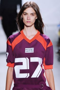 The rugby inspired jerseys at the @lacoste #NYFW #MBFW #SS15 show were a fresh take on the sportswear trend.