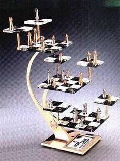 Official Star Trek The Next Generation 3D Tridimensional Chess Set TNG | the Star Trek TNG Collectionary