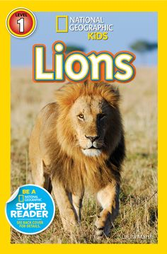 Roar with lions! Packed with beautiful and engaging photos, kids will learn all about these majestic big cats. National Geographic Readers: Lions | National Geographic Store