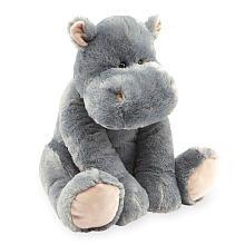 Toys R Us Animal Alley 15.5 inch Sitting Stuffed Hippo Grey