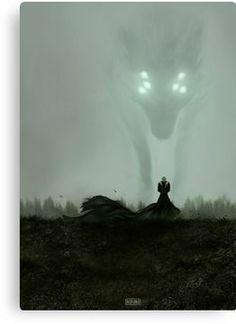 'He who hunts alone' Canvas Print by nipuni The Fog Of War, Soul Game, Dragon Age Inquisition, Hunts, Green Man, Dark Fantasy Art, Art Boards, Vibrant Colors, Digital Art