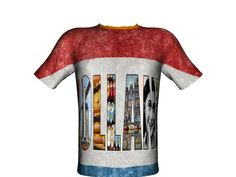 "All over T-Shirt design ""Holland"" by bas hageman. Create your own T-Shirt or open your own shop."