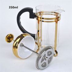 350ML golden glass filter coffee maker / tea strainer percolating cup coffee machine tea cup coffee filter tools Kitchen Tools