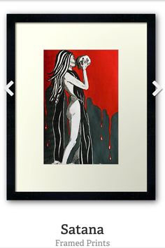 Reminds me of Morrigan ...Satana by SassoJo. Framed prints avail from www.redbubble.com/people/SassoJo