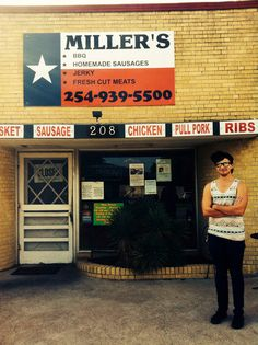 """Eating Up: """"Miller's is my favorite barbecue place in Belton. As soon as you walk up you can smell the meats being grilled which is great. Love the food. Love the service. I would definitely recommend eating here if you haven't!"""" -Reagan"""