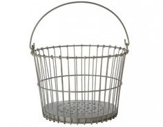 galvanized clam basket