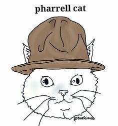 Pharrell cat by Anthony Pego