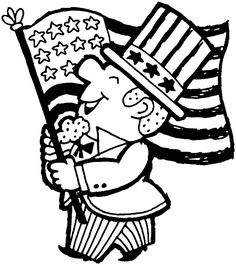 American Celebrating Independence Day Coloring Pages - Download & Print Online Coloring Pages for Free | Color Nimbus