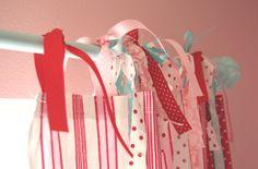 Ribbon top curtains!