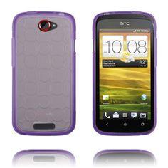 Gjennomsiktig Bakdel (Lilla) HTC One S Deksel Htc One