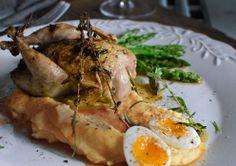 Prepelica sa slatki krompir i šparoga {quail with sweet potato + asparagus}