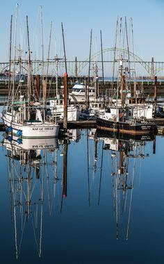 Yaquina Bay Reflections