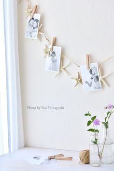 《ウォールデコ》手持ちのアイテムにプラスで簡単フォトガーランド|写真で思い出溢れる暮らし- 福岡のフォトスタイリング&写真教室 Petit Works-プチワークス-