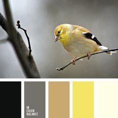 бежевый, графитовый серый, желтый, коричневый, кремовый, насыщенный желтый цвет, нежный желтый, нежный коричневый, подбор пастельных тонов, серый, черный, черный и желтый, яркий желтый.  Facebook
