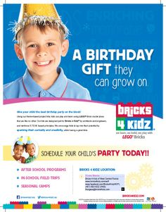 When you use Bricks 4 Kidz®to host your child's party we make the party as little work for you as possible.  We come to your home or wherever you'd like to have your party.  We do everything from greeting your guests to running all the activities with the kids. #bricks4kidz/wcfl