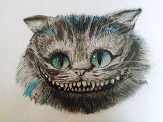 Print of original Cheshire Cat drawing