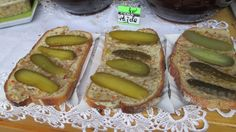 Pajda - Yum! Often served during summer festivals throughout Poland. Fresh bread slices covered in lard with bacon bits - smalec - and sliced pickles. Home made smalec is the best!