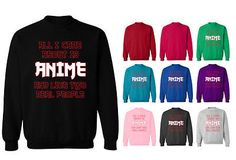 All i care about is anime manga cartoon #slogan unisex #sweater #sweatshirt jumpe,  View more on the LINK: http://www.zeppy.io/product/gb/2/131717919466/