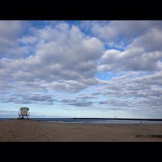 Tower 5 Ocean Beach, San Diego. #beach #clouds
