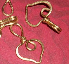 Brass 18g Valentine Heart Clasp by WickedlyWired on Etsy, $5.50
