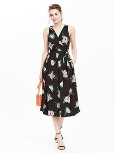 Floral Sleeveless Midi Dress Product Image