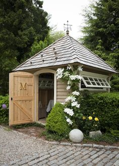 A beautiful storage shed where all lawn and gardening tools can be organized and put away. Description from pinterest.com. I searched for this on bing.com/images