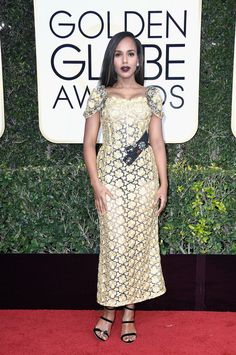 Actress Kerry Washington attends the 74th Annual Golden Globe Awards.