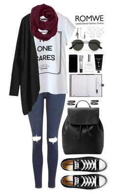 """""""Romwe"""" by fragmentoftheuniverse ❤ liked on Polyvore featuring Topshop, Athleta, MANGO, Converse, Dolce&Gabbana, Cowshed, CLEAN, TokyoMilk, Ray-Ban and Yves Saint Laurent"""