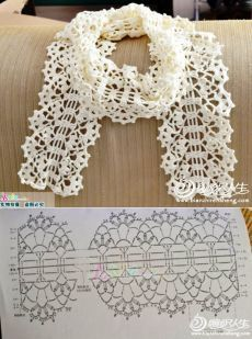 Crochet shawl 667447607258807499 - Super crochet scarf lace ganchillo 25 ideas Source by mariaelenavargasestrada Filet Crochet, Poncho Au Crochet, Crochet Motifs, Crochet Lace Collar, Crochet Chart, Crochet Scarves, Irish Crochet, Crochet Doilies, Crochet Flowers