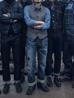Mostly male denim styles & some other cool shit Workwear Fashion, Denim Fashion, Fashion Fashion, All Jeans, Denim Jeans, Raw Denim, Work Casual, Men Casual, Denim Vintage
