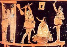 Helena de Troya ha sido uno de los personajes femeninos más representados en las artes plásticas. La cerámica griega de todas las épocas recoge distintos momentos de su historia, incluyendo el momento de su nacimiento de un huevo: 1. El huevo aparece en un altar en un Pélice del pintor de Nicias, conservado en el … Sigue leyendo HELENA DE TROYA EN LA CERÁMICA GRIEGA → Albanian Culture, Greek Culture, Mycenaean, Minoan, Greek And Roman Mythology, Greek Gods, Ancient Greek Theatre, Greek Pottery, Greek Art