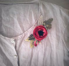 Check out Vintage hair accessories. Decorative Applique .Red flowers. on ezdessin