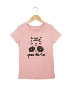T-shirts kids Fille Real Pandicorn Rose chine by Cocotte