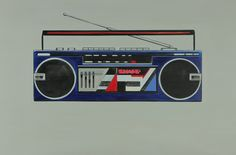 80s Sharp Cassette Player Painting