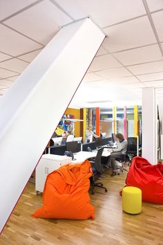 Bean bags at Google offices in Stockholm