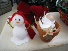 baby jesus and snowman craft did it in kids classrooms for christmas