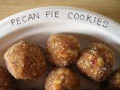 Pecan Pie cookies and a bazillion other Christmas decor and recipes.    Oodlekadoodle Primitives: November 2010