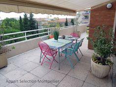 La terrasse de l'appartement Le Magestic à Monptellier.