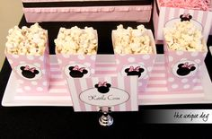 Minnie Mouse Birthday Party, Popcorn Box Party Favor Printable - DIY Party Favor - Instant Download // MIN - 04