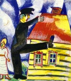 Marching - (Marc Chagall)