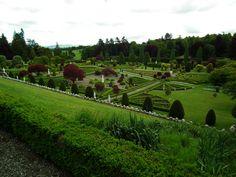 Ogrody zamku Drummond - perełka Szkocji! Mogę śmiało powiedzieć że ogrody zamku Drummond to najpiękniejszy renesansowyogród jaki do tej pory widziałem w Szkocji.  Fakt żew Szkocji nie ma zbyt wielu ogrodów w tym stylu - dużo częściej spotkamy ogrody angielskie, czyli romantyzm i naturalizm...  Tak naprawdę można by powiedzieć że sam ogród, sam teren wraz z roślinami nie