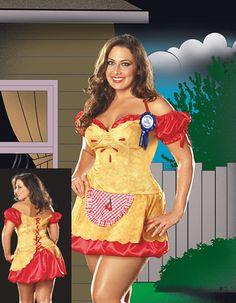 New Adult Plus Size Hot Cherry Pie Halloween Costume