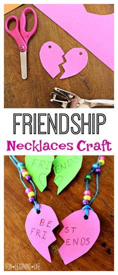 Friendship Necklaces Craft Inspired by My Little Pony! So easy to make and would be a great activity for a party! (Sponsored)
