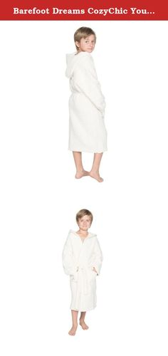 Barefoot Dreams CozyChic Youth Cover-up Robe - Cream. Not just for grown ups...kids too can wrap up in the serenity of their very own CozyChic Cover Up. Made of the famous CozyChic knit, the robe includes a hood and is washable and dryable. Perfect for a day at the pool or just before bedtime.
