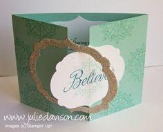 Julie's Stamping Spot -- Stampin' Up! Project Ideas Posted Daily: Snowflake Interlocking Framelit Card