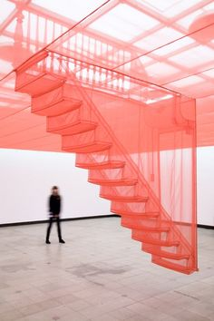silk stairs (installation by Do-Ho Suh)